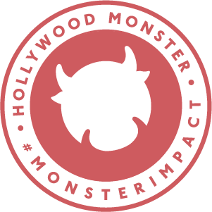 Hollywood Monster Red Stamp Graphic
