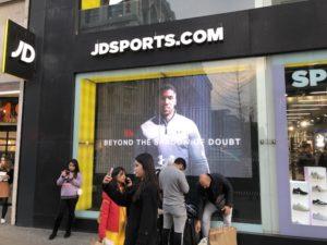 JD Sports Illuminated Signage