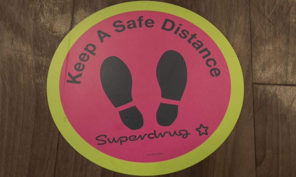 superdrug-social-distancing-floor-sticker