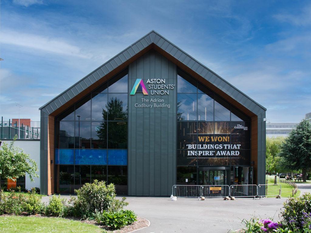 Aston University Cadbury Building Window Graphics