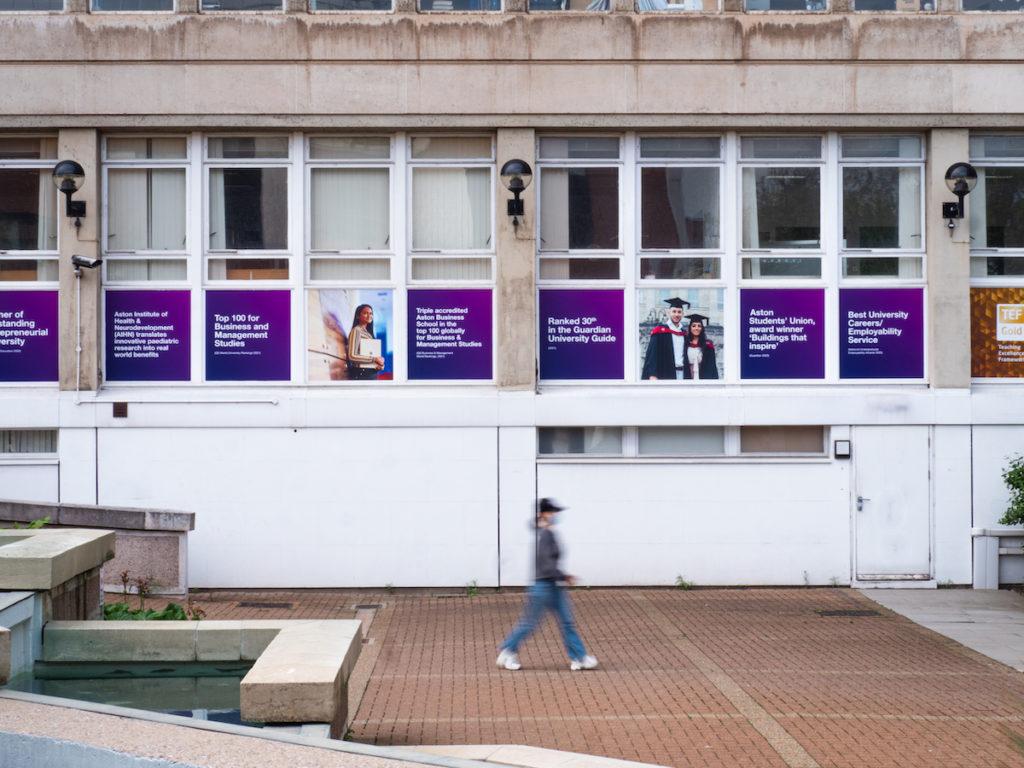 Aston University Window Signage